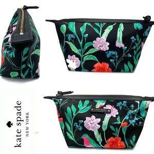 Kate Spade Jardin Hummingbird Floral Cosmetic Bag